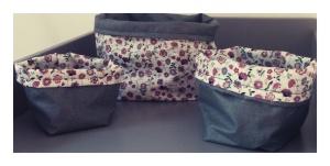 DIY - Paniers en tissu reversibles