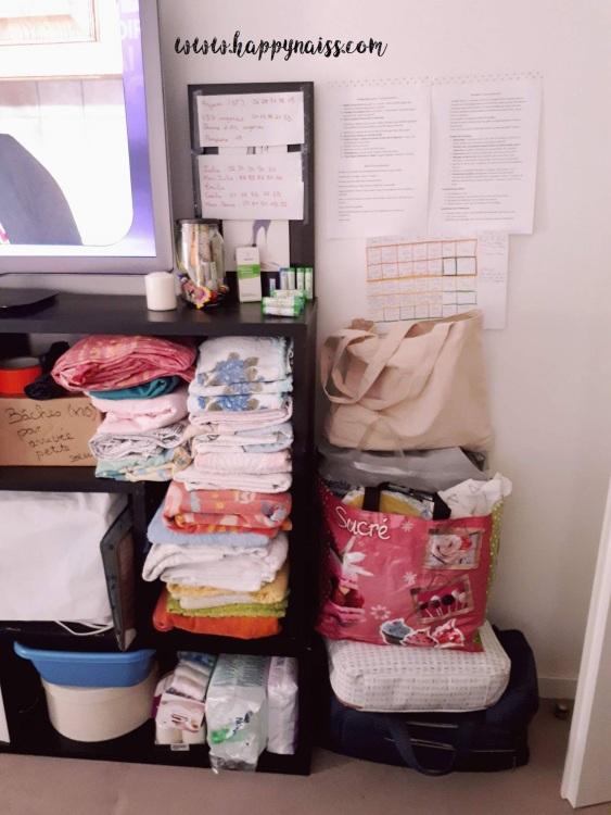 préparation logistique accouchement à domicile